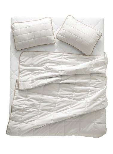 Hibboux De Luxe Çift Kişilik Deve Tüyü Yorgan Beyaz